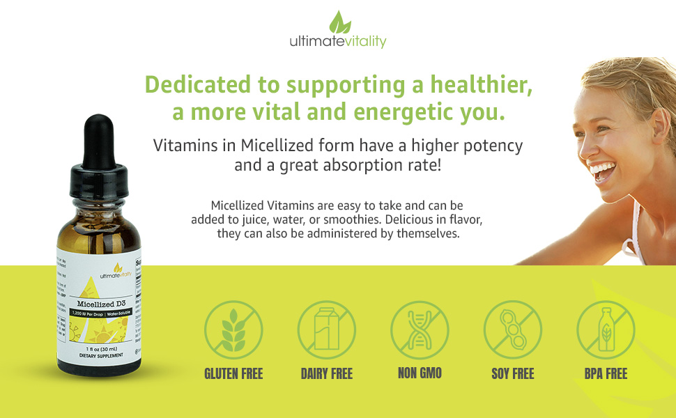 Micellized Vitamin D3 natural supplement maximum absorption immune support