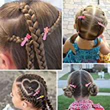 Hair Clips, ECADY (100-Pack 20 Colors) Non-Slip Snap Barrettes for Girls, Women, Kids - 2 Inch