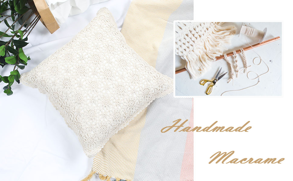 macrame pillow covers