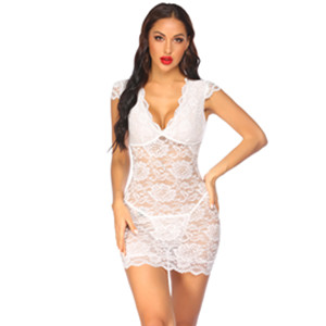 chemise sexy lingerie for women naughty plus size lace mesh nightdress