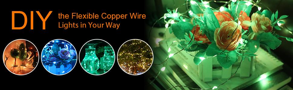 DIY copper wire lights