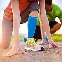 Zensah calf/shin splint compression leg sleeve offers calf support and help prevent injuries