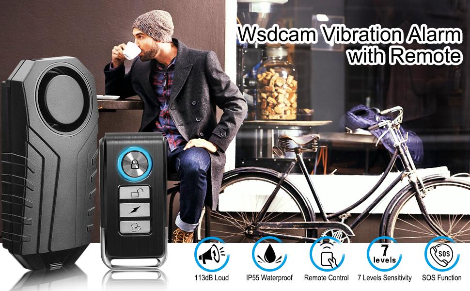 113dB Wireless Anti-Theft Waterproof Motorcycle Bike Bicycle Alarm Remote IP55 u