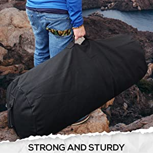 strong and sturdy Farm Blue Duffle Bags