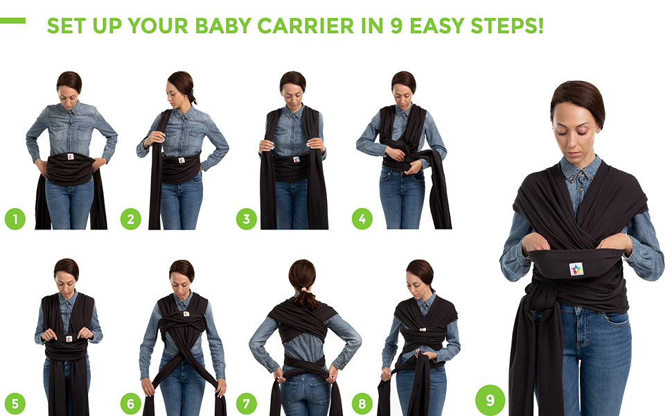 Baby Wrap 5 stars united baby carrier instructions baby sling carrier