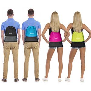 G4Free Kordelzug Tasche 15-20L Rucksack PE Tasche Gymsack Sporttasche zum Schwimmen f/ür Erwachsene und zur Schule f/ür Jugendliche Unisex Rucksack
