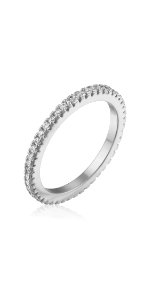 eternity wedding band necklace for women girls one line diamonds gift for her simulated real fake