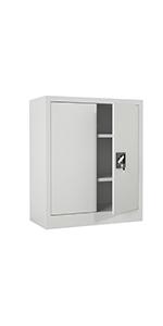 iJINGUR Metal Storage Cabinet, 37.4'' H, Gray