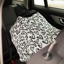baby car seat cover stretchy breathable  nursing breastfeeding blanket canopy travel sun lightweight
