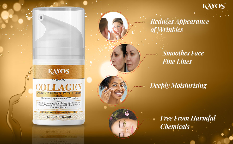 Collagen cream for wrinkles