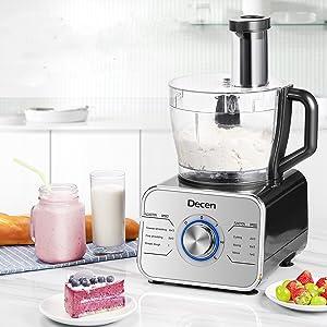 Decen 1100W Procesador de Alimentos/ Robot de Cocina con 14 ...