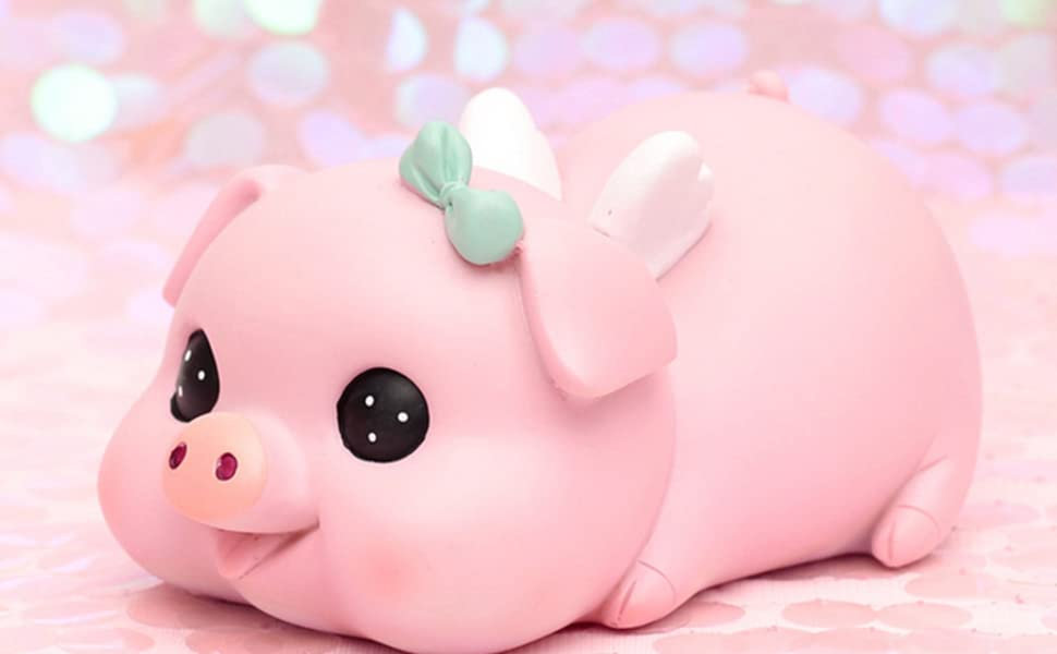 Can Store 1000 Coins Stare Piggy WK7-D3 Best Bitrthday Gift Toy H/&W Cute Pig Coin Money Bank Creative Money Bank Shatterproof Piggy Bank for Kids