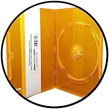 clear orange dvd cases