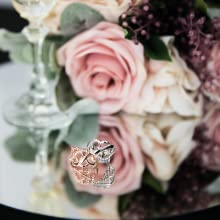 Silver  or rose gold scarf ring