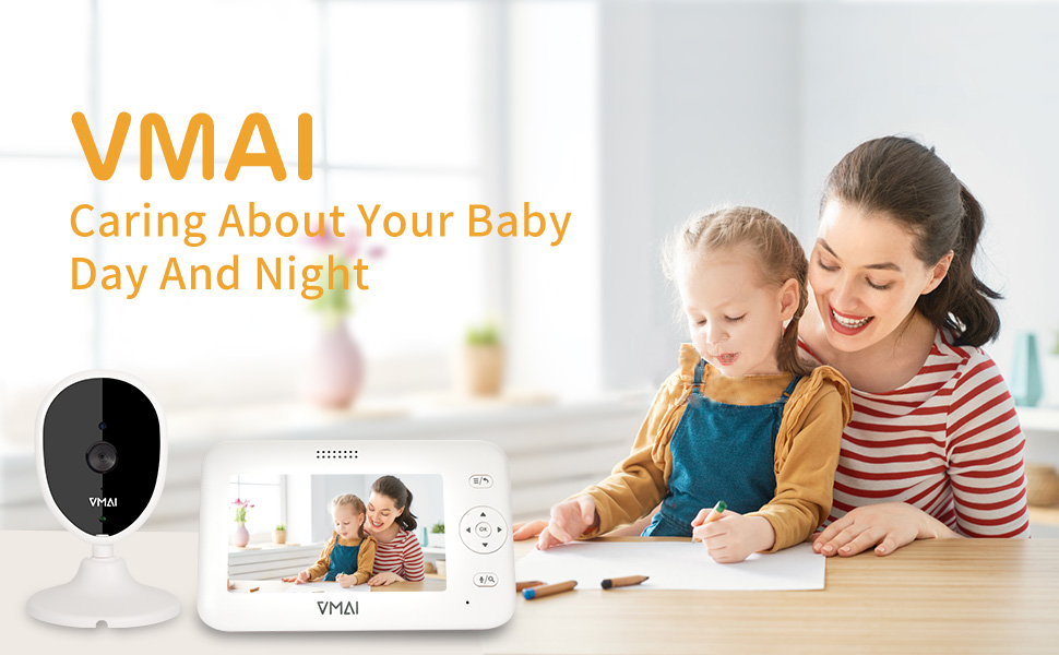 4.3 baby monitor with infrared night version baby camera with temperature sensor video baby monitor