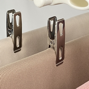 A picture of stainless steel clips
