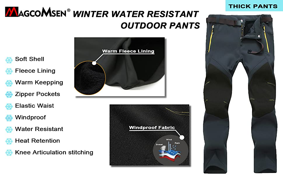 soft shell pants hiking pants mens waterproof pants for men