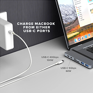 2 USB C power delivery ports