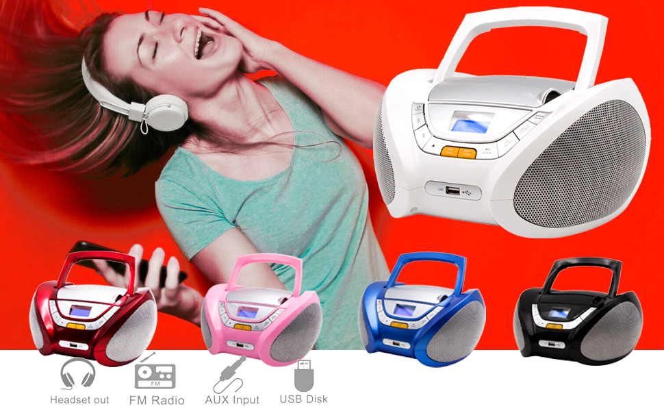 Boombox with Digital FM Radio Kids Lauson Woodsound