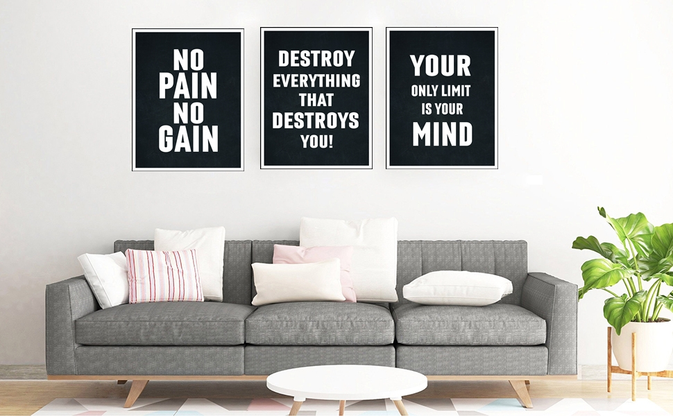 Motivational Posters - 11x14 Inches Set of 6 Wall Art, Hustling, Entrepreneur Decoration