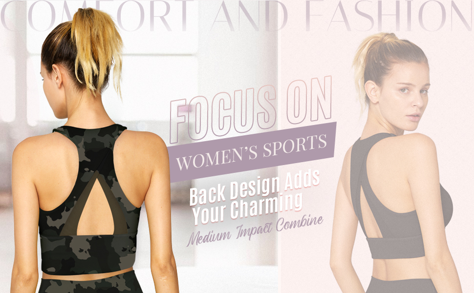 Focus On Women' s Sports Longline Sports Bra