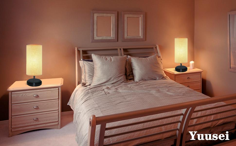 2 3 lampe de chevet tactile intensité decoration moderne enfant chambre design bois petite noire