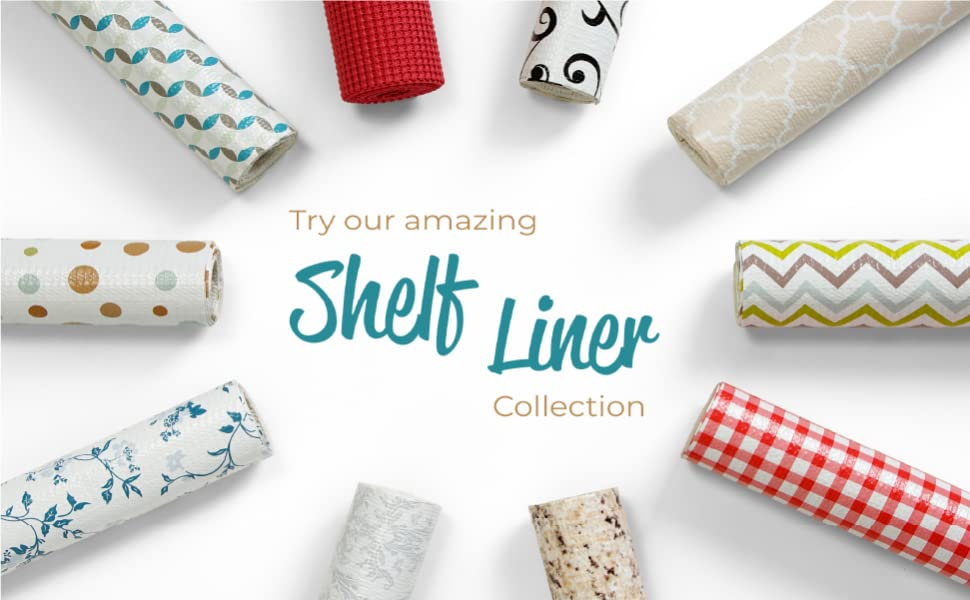 Shelf Liners ShelfLiners Smart Design Shelf Liners Adhesive Grip Wallpaper Cleaning Organize