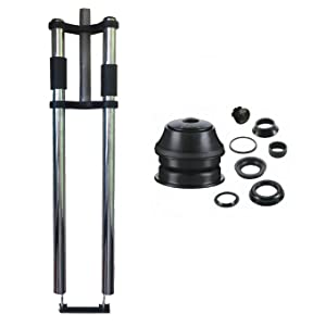 DONSP1986 Black Tripe Tree Suspension Fork and Headset Gas Motorized Bicycle