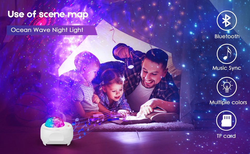 starry sky night light projector for kids adults bedroom