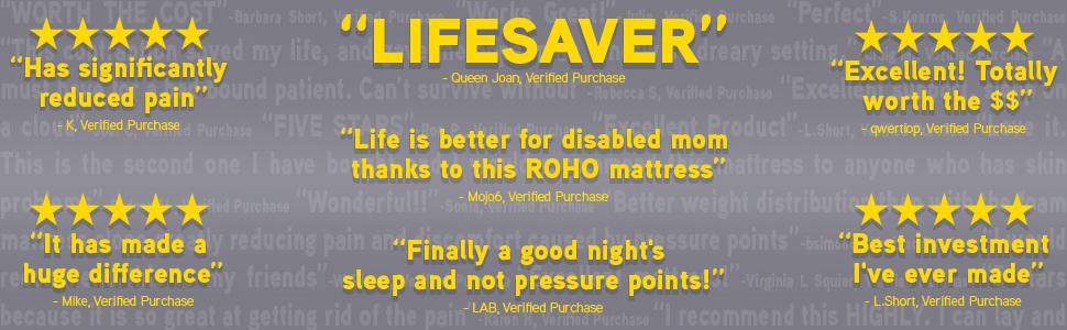 best reviewed ROHO mattress on amazon prodigy