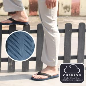 comfortable and soft flip flops for men, soft and cushioned men's slippers