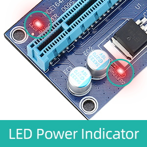 Red LED Indicators Remind Power On and Working Status