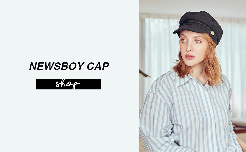 accsa newsboy hats for women sun hat black fashion newsboy cap for summer cool