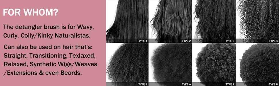 hair detangler brush for curly hair