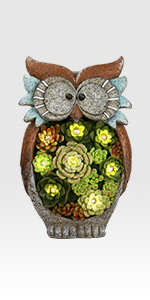 owl solar lights