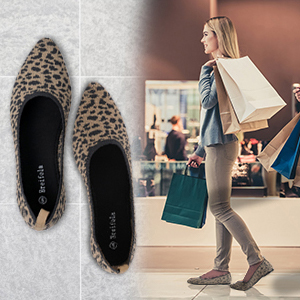 mesh Casual Walking Shoes Breifola Womens Shallow Mouth Fashion Pointed Flat Shoes Simple Knitted Low-Heel Flat Shoes