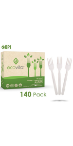 Compostable Biodegradable Spoons Disposable Silverware Utensils Cutlery