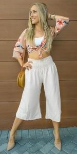 PIYOGA Pants Culottes Loose Boho Bohemian Tall Petite Plus XL XXL Wide Leg Cropped Boutique Beach