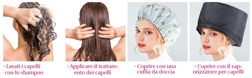 Cappellino per Capelli Elettrico, Trattamento per Capelli Caldi SPTHTHHPY
