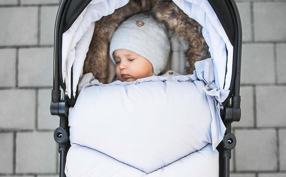 BABYLUX Fußsack LAMMWOLLE Winterfußsack Kinderwagen Fußsack 90 cm LEOPARD