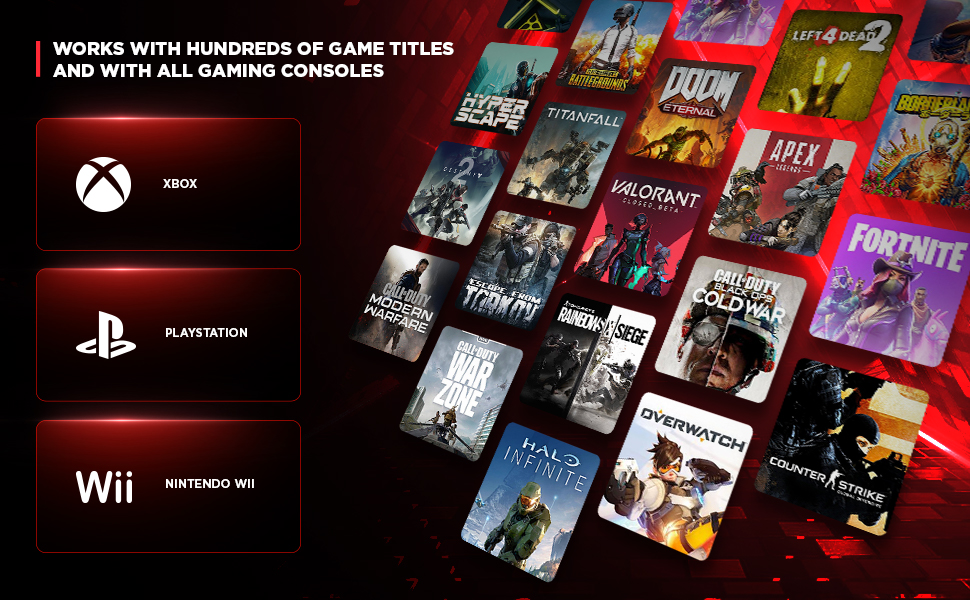 Works With Hundreds of Game Titles and With all Gaming Consoles
