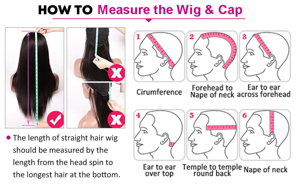 how to measure wigs