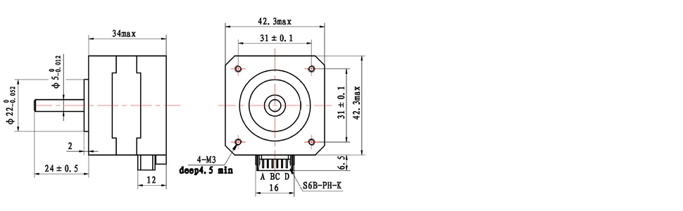 4 pin stepper motor