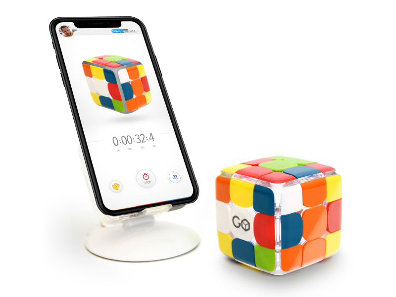 GoCube Rubik's cube 3X3 with compatible app, timer screen