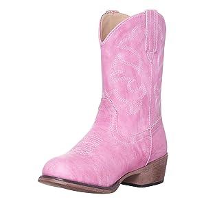 Children Western Cowboy Boot Pink Boy Girl