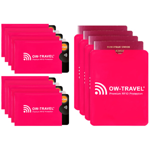 RFID card protector sleeves. Credit card protectors 10 and Passport Sleeves 5 Bank RFID Cardholder