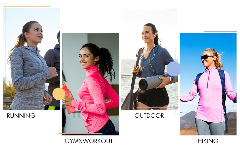 women hiking shirts