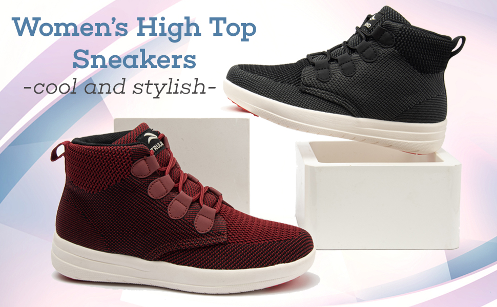 woman black fashion hightop tops tenis altos para mujeres hi joan dance ankle height zapatos mujer