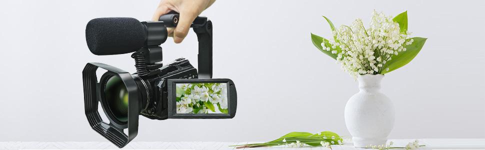 Flashandfocus.com 8d4f3586-0a5d-4065-86dd-663ddd8d4563.__CR0,0,970,300_PT0_SX970_V1___ Video Camera 4K Camcorder ZOHULU WiFi Ultra HD Vlog Camera for YouTube, 3.1'' IPS Screen 30X Digital Zoom Night Vision…