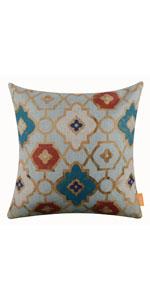 "LINKWELL 18""x18"" Vintage Geometric Golden Look Burlap Cushion Case"